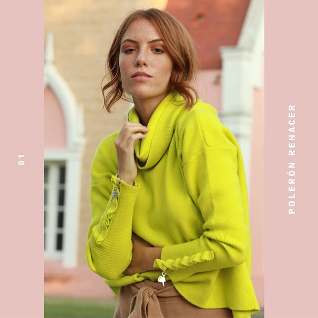 sweater polera neon MillieTejidos de moda invierno 2020