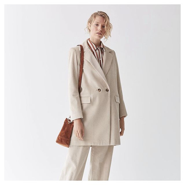 blazer largo mujer awada invierno 2020