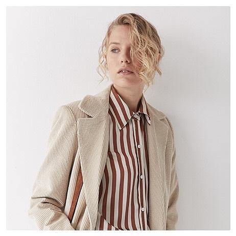 camisa a rayas mujer awada invierno 2020