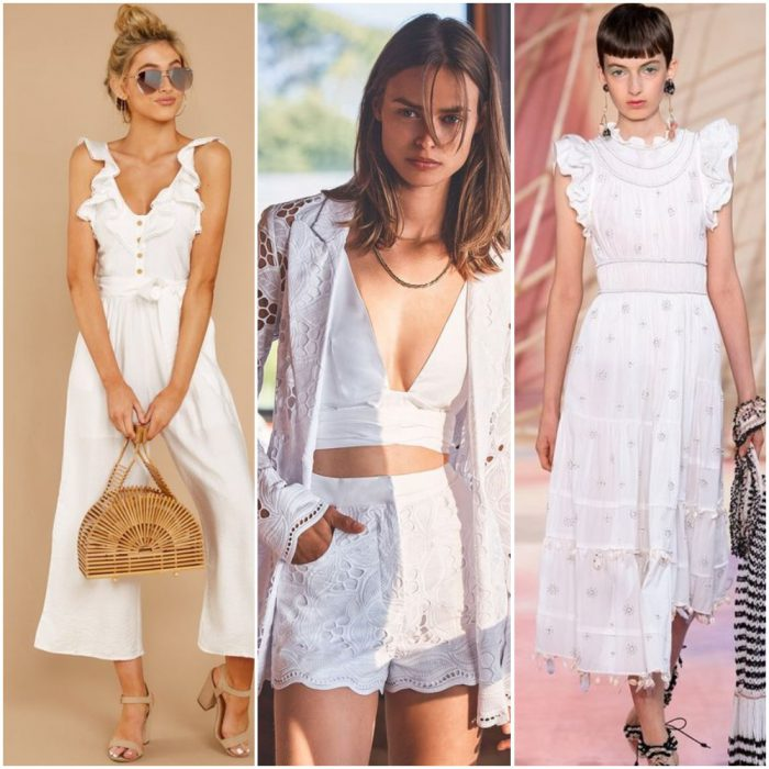 Look urbanos informales blancos estilos de moda verano 2021 Argentina