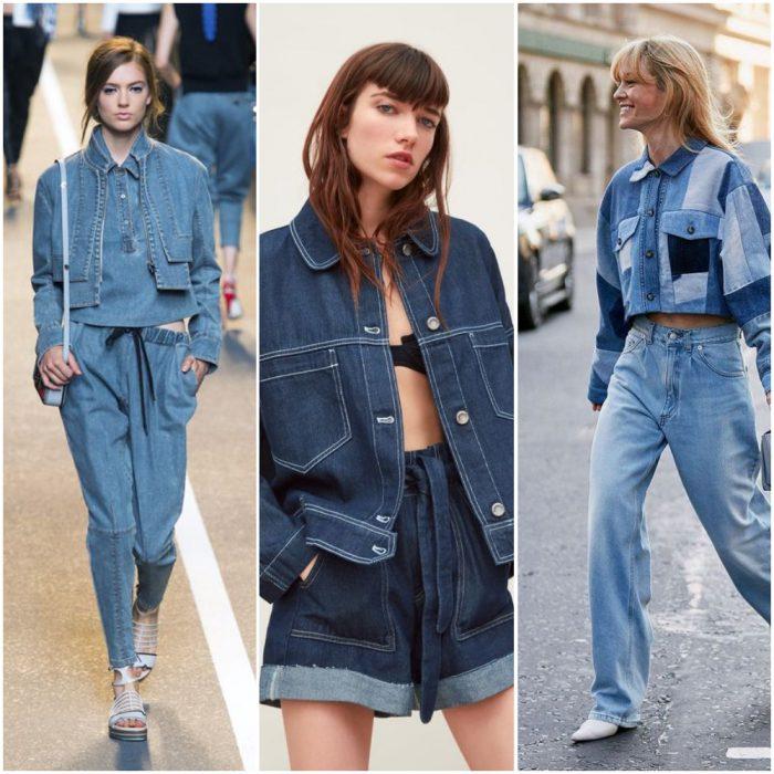 estilos total denim estilos de moda verano 2021 Argentina