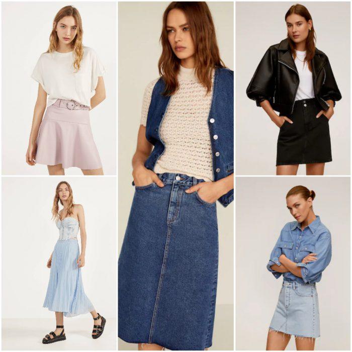 faldas de moda primavera verano 2021 Argentina
