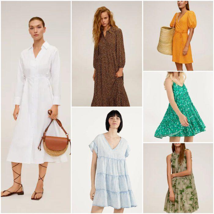 vestidos de dia informales de moda verano 2021 Argentina tendencias