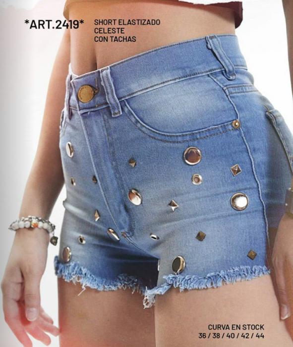 Short jeans azul claro verano 2021 Diosa Luna