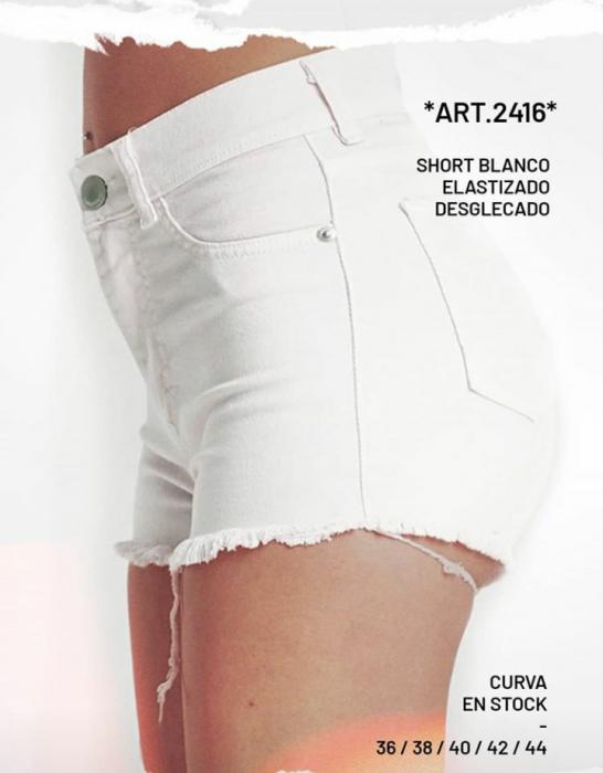Short jeans blanco verano 2021 Diosa luna