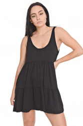 Vestido negro informal Embrujo jeans primavera verano 2021