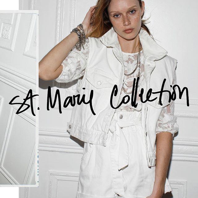 bermuda mujer con chaleco jeans blanco St Marie verano 2021