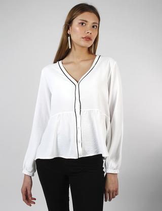 blusa blanca af jeans verano 2021