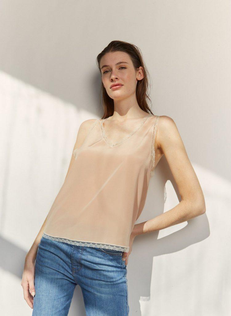 blusa de seda urbana verano 2021 Etiqueta Negra