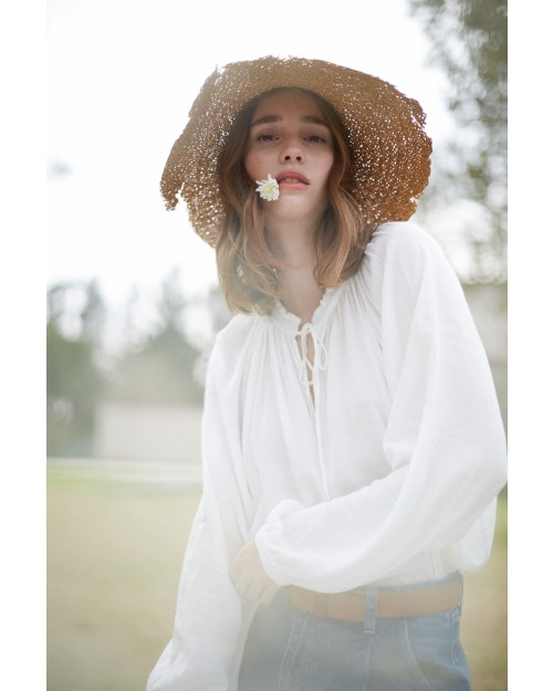 blusas blanca mangas largas Wanama verano 2021