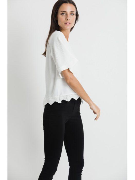blusas con pantalon de bengalina verano 2021 Brasco