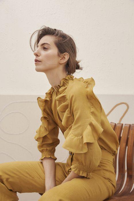 camisa con volados verano 2021 Carmela Achaval