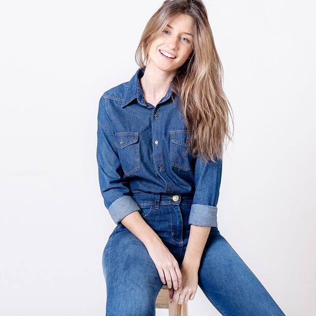 camisa denim jeans ecole verano 2021