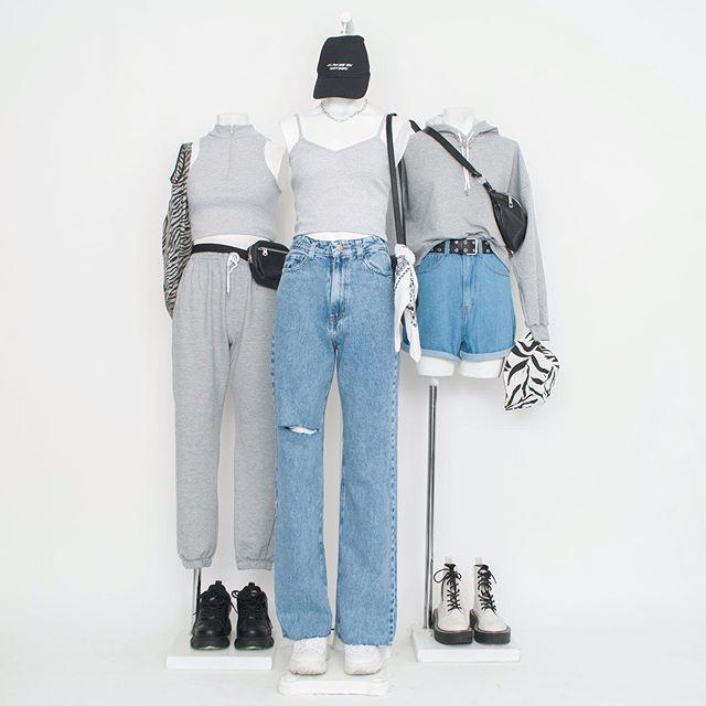 look informales con jeans anchos Psychic verano 2021