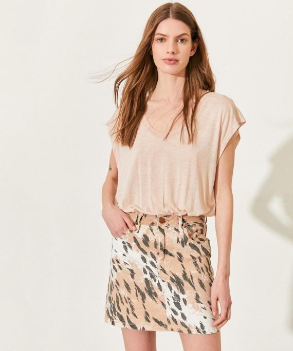 minifalda animal print verano 2021 Kosiuko