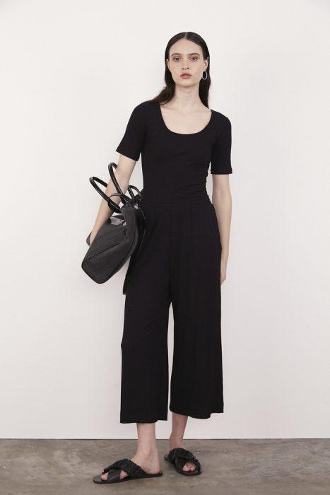 outfits pantalon culotte negro verano 2021 Calandra