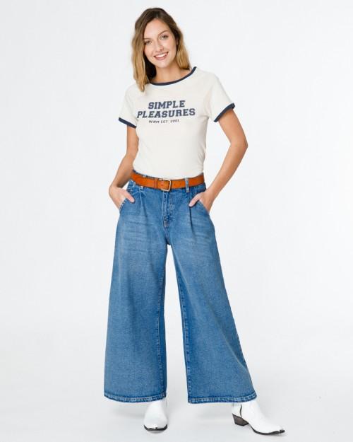 palazzo ancho jeans Wanama verano 2021