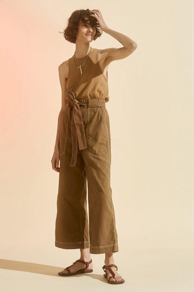 pantalon ancho tiro alto Maria cher verano 2021