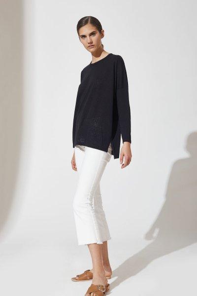 pantalon blanco recto con remeron negro verano 2021 estancias chiripa
