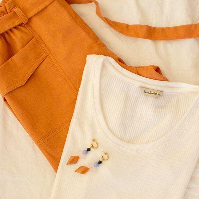 pantalon de vestir y remera con aplique Sans Doute verano 2021