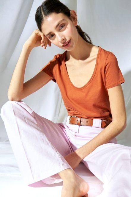 pantalon gabardina ancho Delucca verano 2021 1