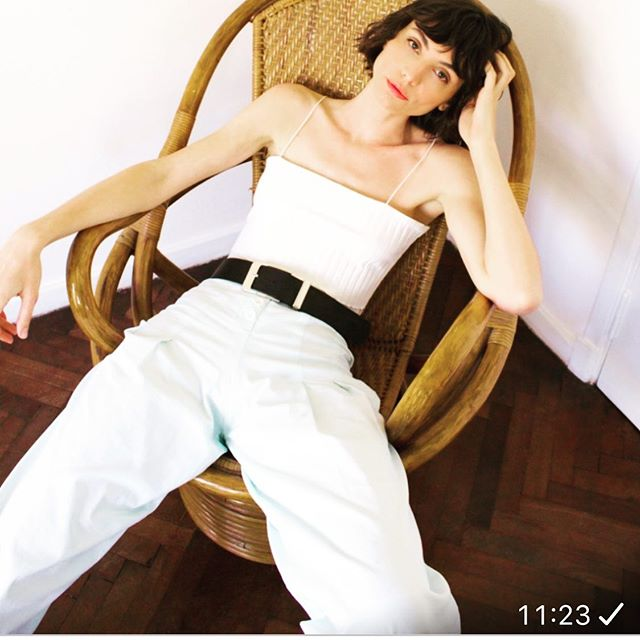 pantalon y top blanco pura pampa verano 2021