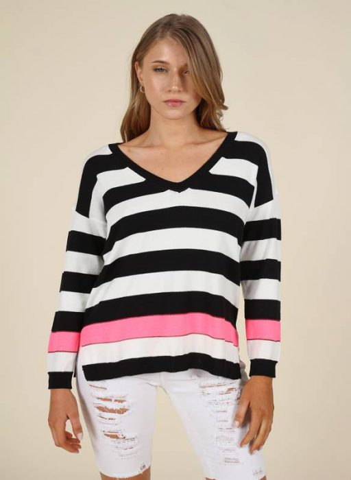 sweater hilo a rayas mujer nucleo verano 2021