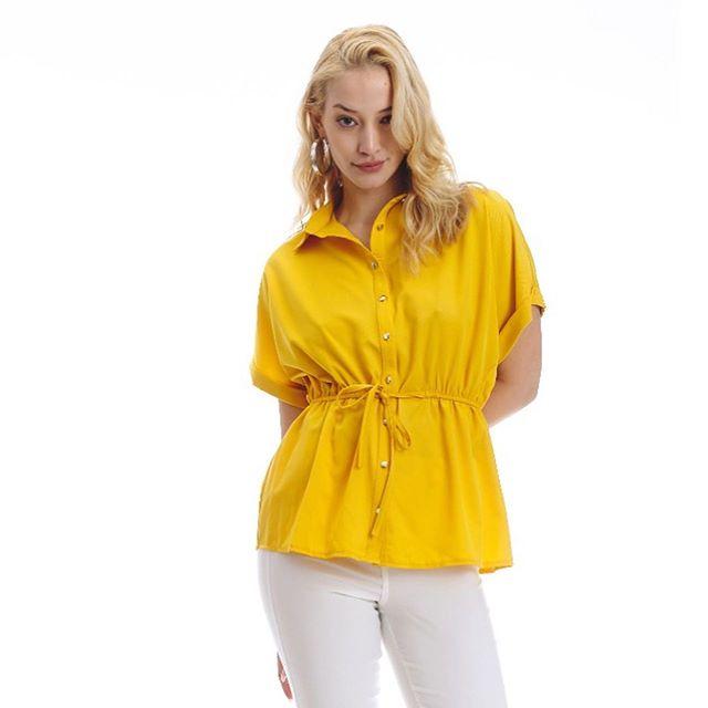 tramps camisa de fibrana amarilla verano 2021