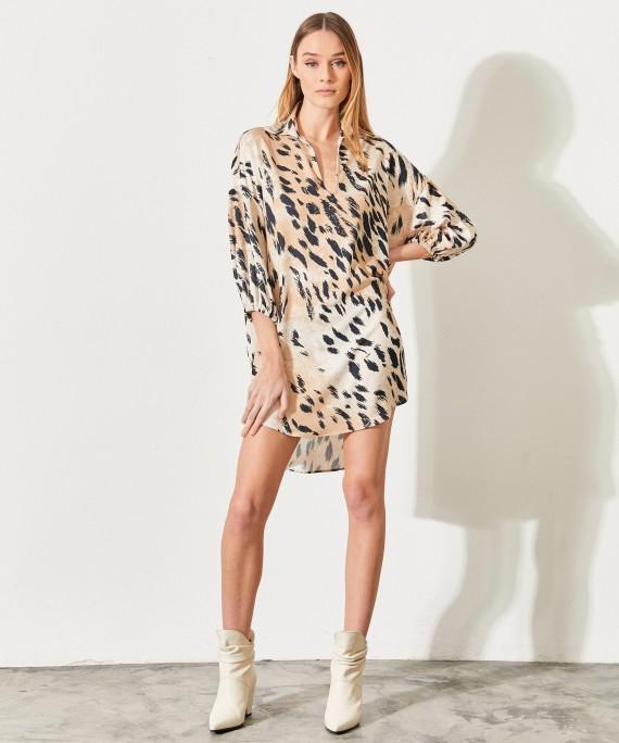 vestido camisero animal print verano 2021 Kosiuko