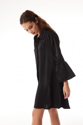 vestido camisero negro Ossira verano 2021