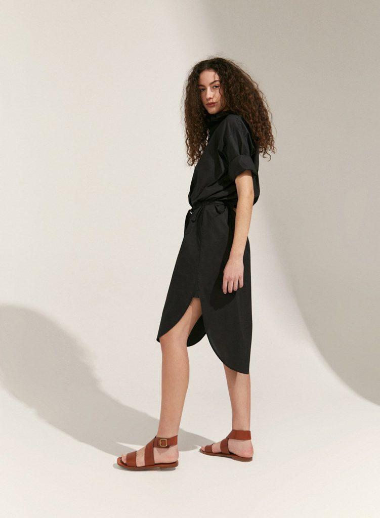 vestido camisero negro verano 2021 Etiqueta Negra