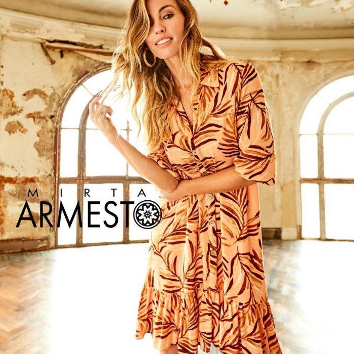 vestido estampado para el dia verano 2021 Mirta Armesto