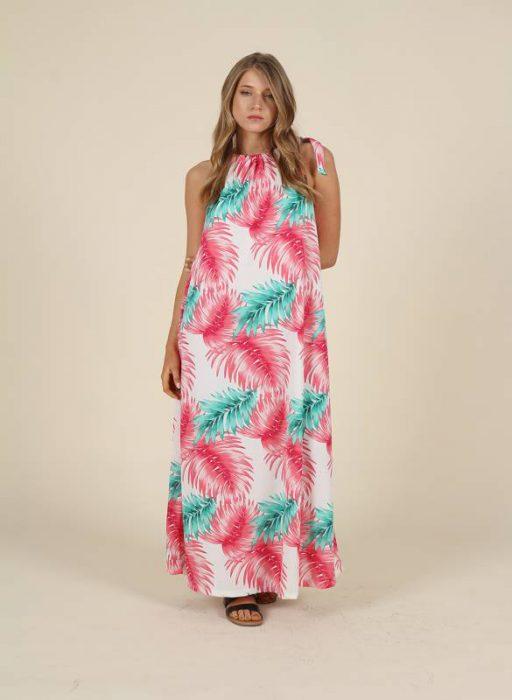 vestido largo informal mujer nucleo verano 2021