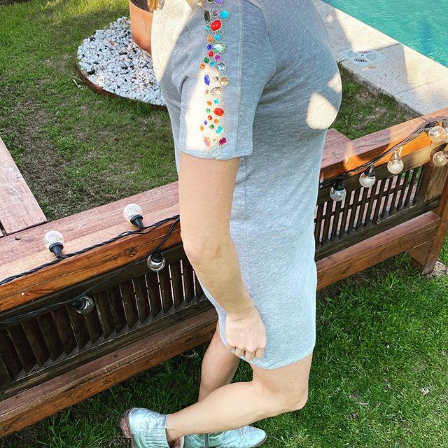 vestidos de algodon con bordado pura pampa verano 2021