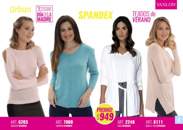 VANLON tejidos livianos para mujer primavera verano 2021