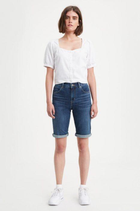 bermuda de jean mujer verano 2021 Levis