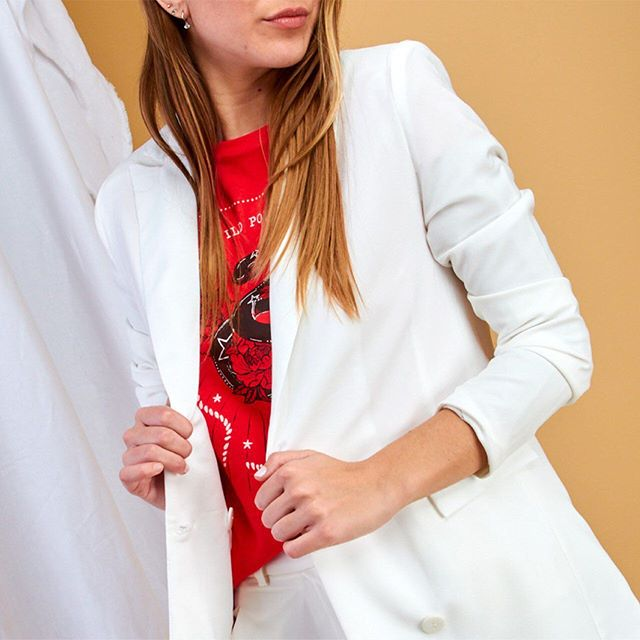 blazer blanco kevingston mujer verano 2021