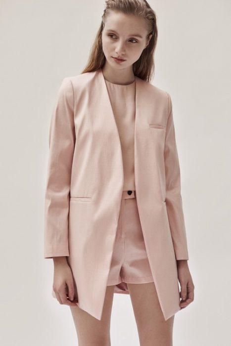blazer largo rosa Ayres verano 2021