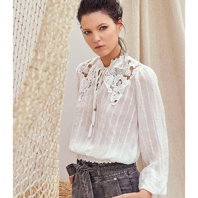 blusa blanca vesna verano 2021