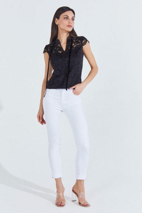 blusa de encaje negra markova verano 2021