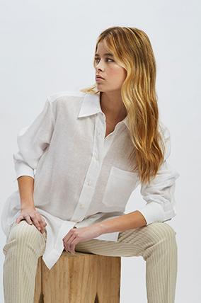 camisa blanca mujer Awada verano 2021