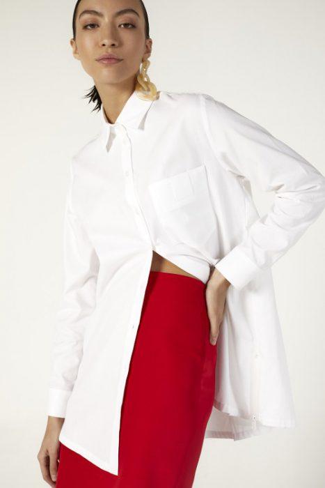 camisas largas y falda tubo Ayres verano 2021