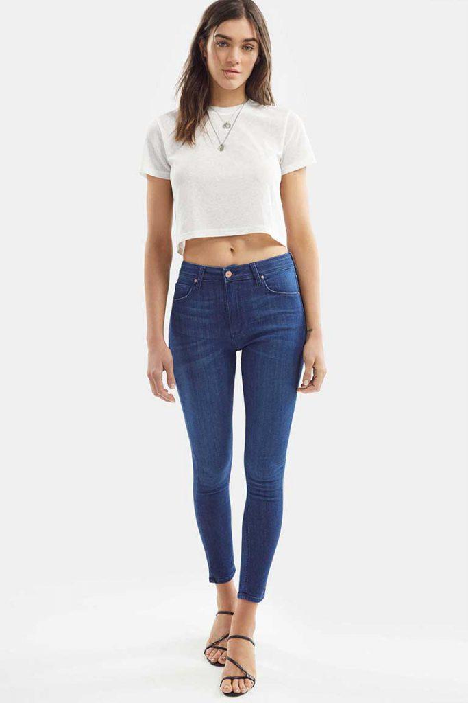 chupin azul Adicta jeans verano 2021