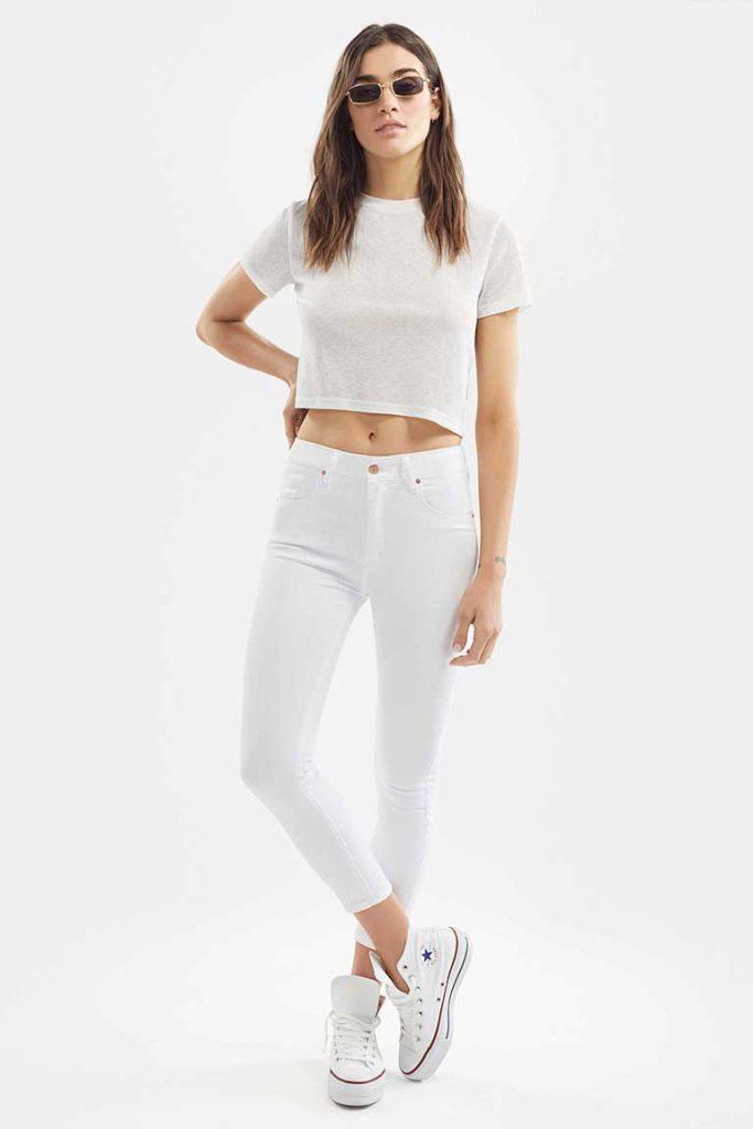 chupin blanco Adicta jeans verano 2021