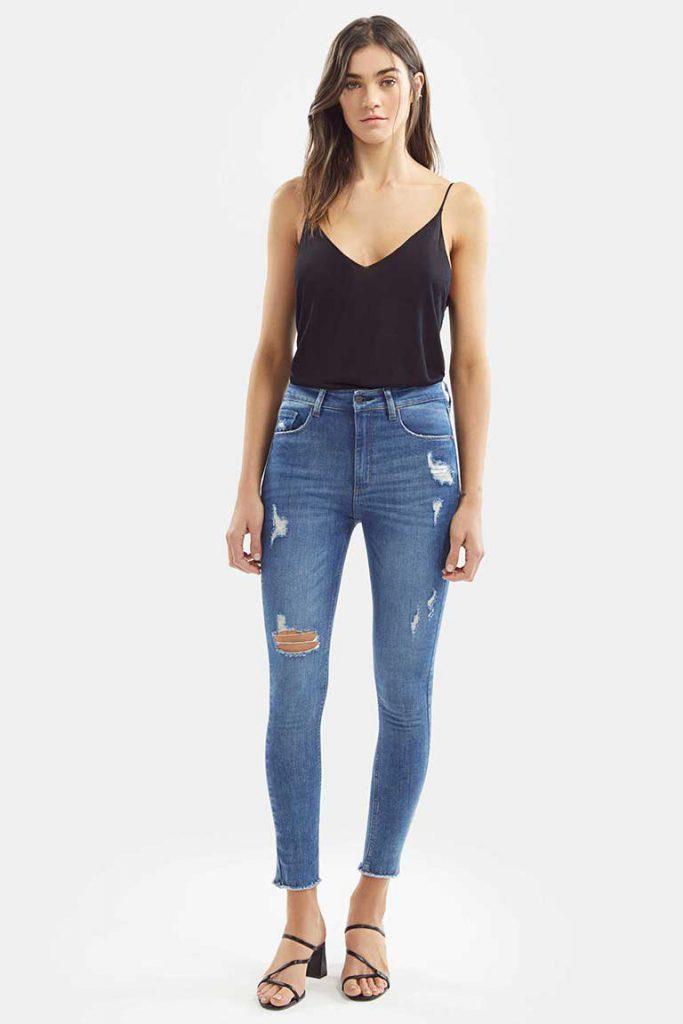 chupin con roturas Adicta jeans verano 2021