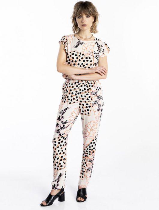 conjunto blusa y pantalon estampado verano 2021 Asterisco
