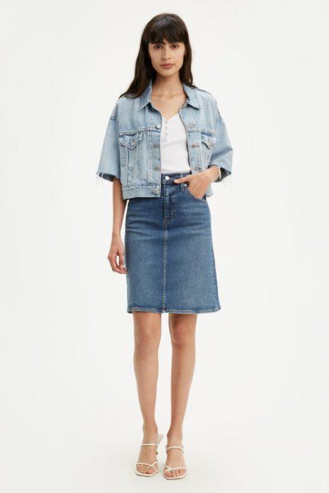 falda largo medio jeans mujer verano 2021 Levis