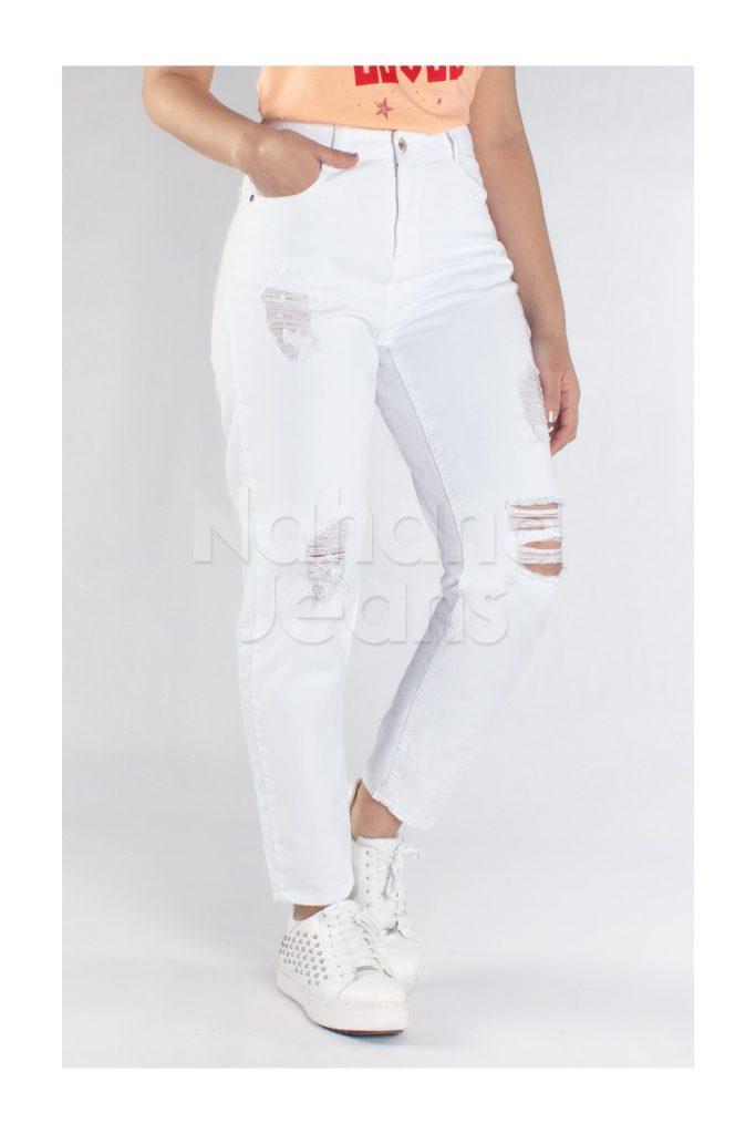 jeans blanco mom verano 2021 Nahana Jeans