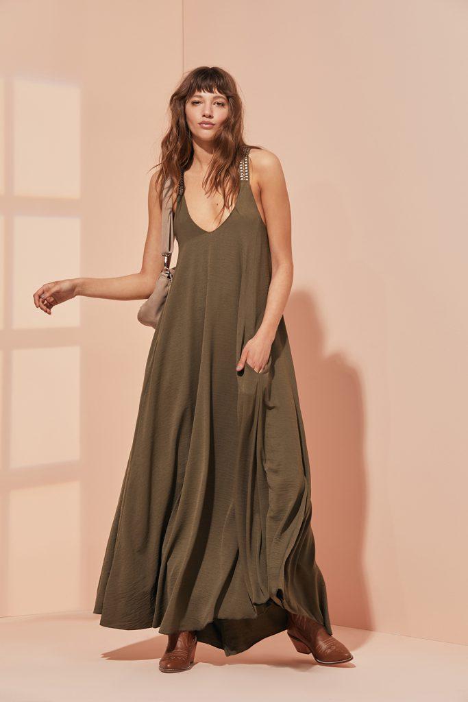 maxi vestido casual vesna verano 2021