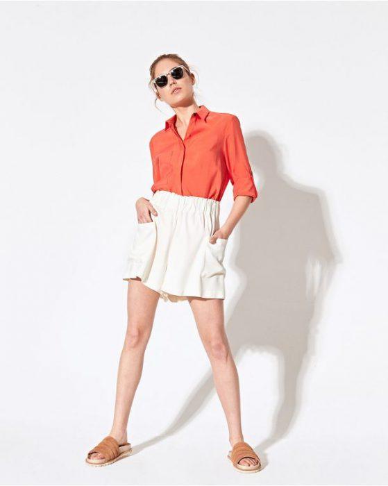 minifalda blanca casual System verano 2021